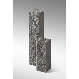 Palisada łupana 22 cm szaro-biały