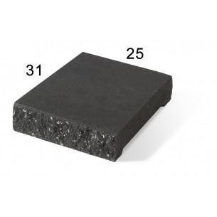 Daszek słupkowo-podmurówkowy E14 płaski - grafit