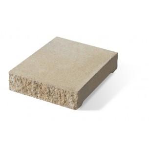 Daszek słupkowo-podmurówkowy E14 płaski - piaskowy