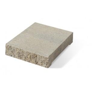 Daszek słupkowo-podmurówkowy E14 płaski - szaro-piaskowy