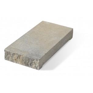Daszek słupkowy E16 płaski - szaro-piaskowy